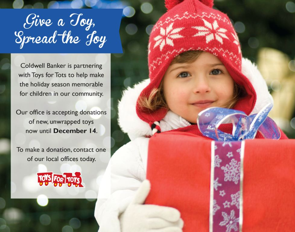 Toys For Tots Ad : Coldwell banker residential brokerage kicks off annual